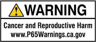 Proposition 65 current short-form warning notice