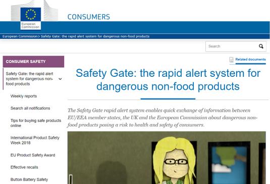Safety Gate Rapex Website
